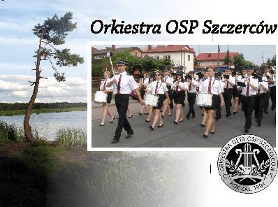 Pocztówka Orkiestra OSP Szczerców